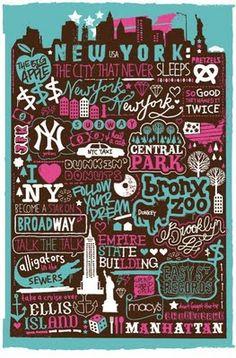 sophiehenson.blogspot.fr Sérigraphie New-York