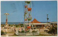 buckroe beach | Buckroe Beach VA Hampton Amusement Park Ferris Wheel Rocket Postcard ...