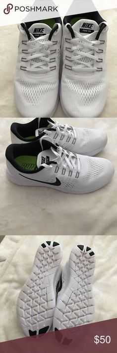 uk availability 8942a a5cf1 White and black Nike Free RN running shoes