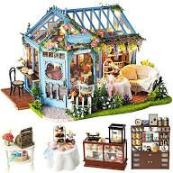 FAST DELIVERY GIRLS WINDING WOOL Dollhouse Miniature Art Picture MADE IN USA