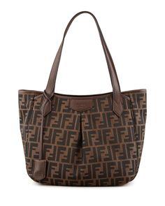 9ed190586a72 Fendi Zucca Medium Shopping Tote Bag Tobacco $228.00 Luxury Bags, Luxury  Handbags, Fashion Handbags