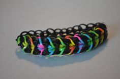 bird of paradise Rainbow Loom Bracelet on Etsy, $1.50