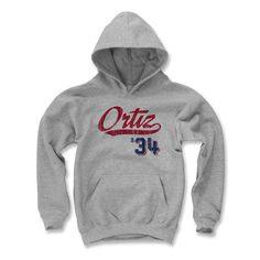 David Ortiz Script R Boston MLBPA Officially Licensed Youth Hoodie S-XL