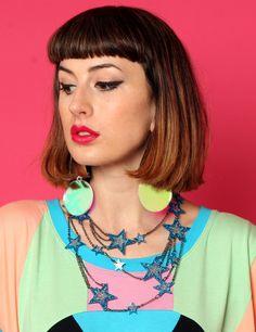 Tatty Devine in collaboration with Eley Kishimoto, Glitter Star Struck necklace. Collector! #tattydevine