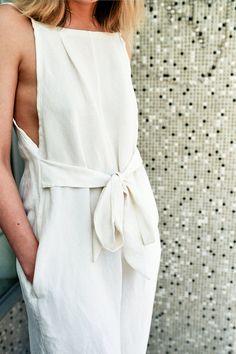 silk linen slouch suit.