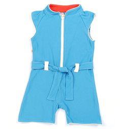 Blå anja hotpants suit fra alba baby
