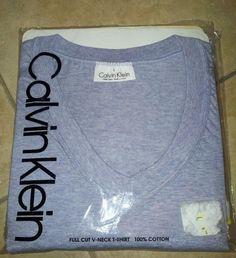 Mens Calvin Klein V Neck T-Shirts sz Large