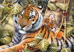 DIY Square Diamond Embroidery Cross-Stitch Lover Tigers Animal World Diamond Painting Modern Style Handmade Home Decoration Tiger Parenting, Big Cats Art, Cat Art, Mosaic Crosses, Pet Tiger, Tiger Cubs, Creation Photo, Cross Paintings, Wildlife Art