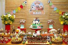 First Birthday Parties, 3rd Birthday, First Birthdays, Barnyard Party, Farm Party, Farm Cake, Bernardo, Christmas Ornaments, Holiday Decor