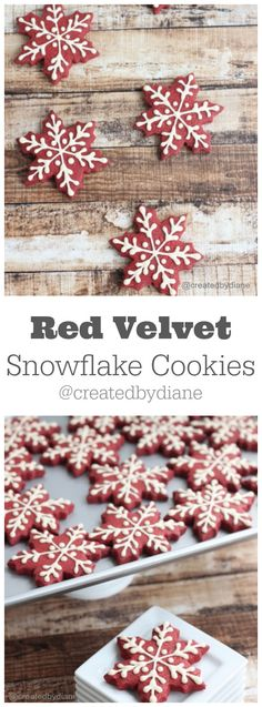 Red velvet Snowflake cookie recipe from @createdbydiane