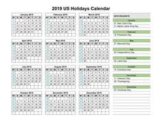 2019 Business Calendar Template With Holidays Printable 2019 Calendar With Holidays Printable Calendar 2019 Pdf Printable Calendar 2019 Word Related