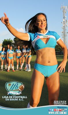 Equipo Femenil de Football Americano en Bikini.  LFBC