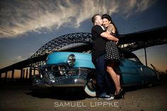 Victoria + Matthew's 1950s Rockabilly Engagement Session