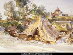 Camp with Ambulance 1918 - John Singer Sargent - www.johnsingersargent.org