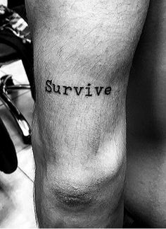 [LAST CHANCE] Limited time offer Survival Tattoo, Survival Quotes, Tattoo Quotes, Tattoos, Tatuajes, Tattoo, Japanese Tattoos, A Tattoo, Quote Tattoos