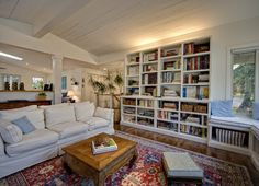 I'm thinking this is exactly what I want with doors on the bottom. Like the lights above the cabinets and I would need moveable shelving. Book nook in the corner?