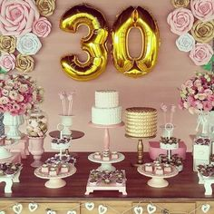 Balloons Home & Garden Party Co, 30th Party, Festa Party, 30th Birthday Parties, Birthday Celebration, 60 Birthday, Happy Birthday Decor, Birthday Brunch, Birthday Party Decorations