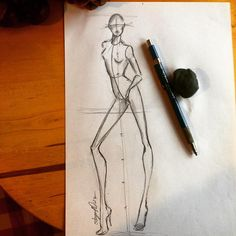 zeichnen – Keep up with the times. Fashion Design Drawings, Fashion Sketches, Fashion Collage, Fashion Art, Fashion Illustration Poses, Fashion Figure Templates, Figure Sketching, Fashion Figures, Anatomy Art