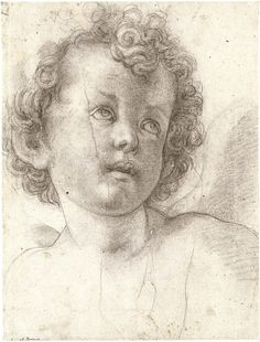 Agnolo Bronzino's Head of a Curly-Haired Child (Staatliche Kunstsammlungen, Dresden, c. Staatliche Kunstsammlungen, Kupferstich-Kabinett, Dresden ca. 1527 Black chalk 12 x 9 in. Find the best installations in New York with www. Drawing Sketches, Pencil Drawings, Art Drawings, Figure Drawing, Painting & Drawing, Renaissance Kunst, Grisaille, Daily Drawing, Old Master