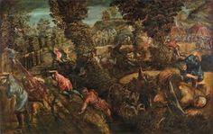 Jacopo Tintoretto (Venedig 1516-1594) Die Schlacht zwischen Philistern und Isrealiten, Öl/Leinwand, erzeilter Preis € 907.500