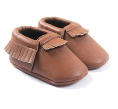 Willow Fringe Moccasin - Cognac / Brown