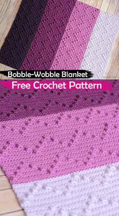 Bobble-Wobble Blanket Free Crochet Pattern #crochet #crafts #blanket #homedecor #handmade #style #idea