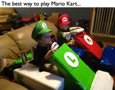 The best way to play Mario Kart.