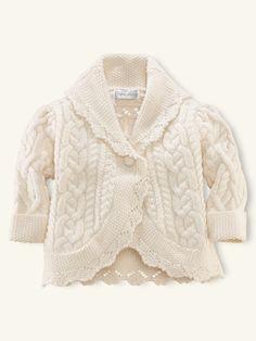 Cabled Shawl-Collar Coat - Layette Tops & Bottoms - RalphLauren.com