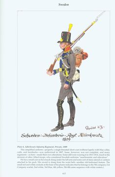 Sweden: Plate 6. Adlerkreutz Infantry Regiment, Private, 1809