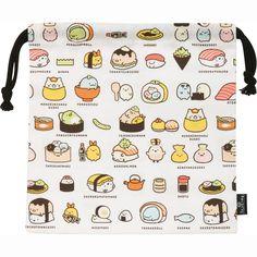 Amazon.com : Sumikko Gurashi -Things in the corner (Narikiri Sushi no Kai) Drawstring Bag Pouch 19 x 19.5 cm San-X : Office Products