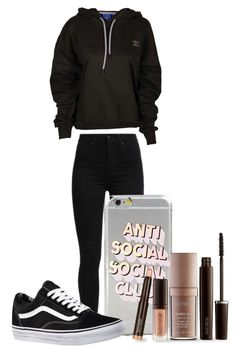 """Everyday Casual#3"" by aishahhxo on Polyvore featuring adidas, Levi's, Vans and Laura Mercier"