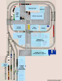 lego city train layout - Google Search