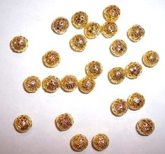 8mm Gold Plated Round Filigree Beads  25 in by JerseyShoreBeads, $2.50