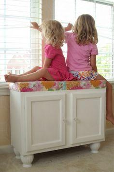 kitchen cabinet converted!
