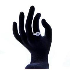 #princess #ring / Inele logodna argint cu zircon   SilverBox.ro Silver Rings