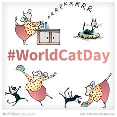 It's #WorldCatDay! What's the best thing about your feline friends? #MUTTScomics