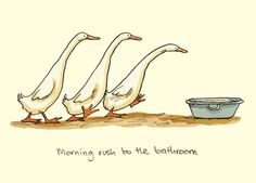 MORNING RUSH TO THE BATHROOM by Anita Jeram