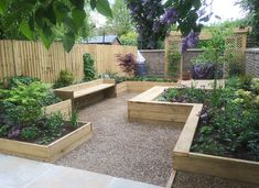 An example of a Large Walled Garden, Balham, designed and built by Jo Wyeth Garden Design in South London. Small Garden Veg, Small Vegetable Gardens, Vegetable Garden Design, Back Garden Design, Garden Design Plans, Gravel Garden, Garden Beds, Gravel Path, Back Gardens