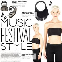 Coachella music festiva! by thequeenstore on Polyvore featuring moda and Ancient Greek Sandals