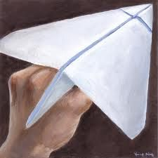 There were sooooo many ways to fold paper airplanes! Could even put paper clip on end to make it go further