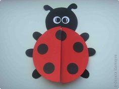 Master Class de aplicare Bumagoplastika Carduri Ladybug hârtie carton Fotografii 1