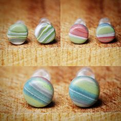 New watercolour shade earrings on plastic posts.