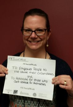 Advocate and empower #YSocialWork #SUsocialwork