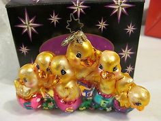 """Christopher Radko Easter Parade 11/"""" Ornament Stand Resin Base NEW IN BOX"""