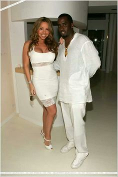 """Mariah attends Sean Diddy Combs' """"All White Party"""" in East Hamptons, NY -September 2, 2007"""
