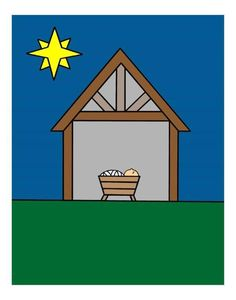 Baby Jesus Stable Game for 2 and 3 year olds!