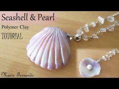 Seashell and Pearl - Polymer Clay Tutorial | Maive Ferrando - YouTube