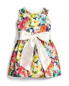 Garden Party Mesh A-Line Dress, Multicolor, Size 7-14, Size: 14, Floral - Helena