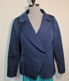 Lafayette 148 womens Jacket 16 XL Dressy Blazer Dinner Career After 5 Dk Blue  #Lafayette148NewYork #Blazer