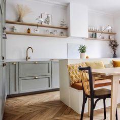 Devol, Kitchen Remodel, Kitchen Decor, Sweet Home, New Homes, Kitchen Cabinets, Interior Design, Table, Furniture